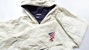 Vtg 90s Polo Ralph Lauren1 P Wing Pullover Hoodie Jacket Coat Bear Sport 92 Rare