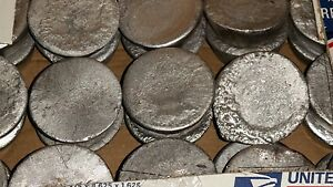 40 LBS Round  OF SOFT LEAD LYMAN INGOTS FOR BULLET CASTINGS OR FISHING SINKERS