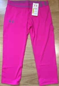 NEW!! Under Armour Capri Girls Youth XL Rebel Pink Heat Gear