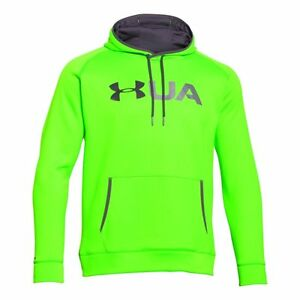 UNDER ARMOUR STORM FLEECE GRAPHIC HOODIE MEN'S XL HYPER GREEN NEW WITH TAGS
