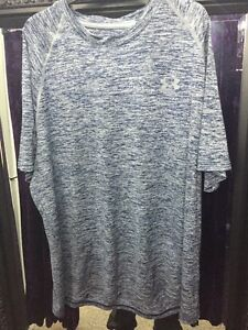 under armour Sports Top T Shirt Mens White Navy Blue Grey Size Loose Fit XL