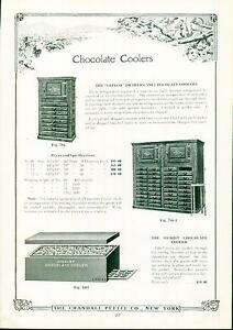 Catalog Page Ad Pettee Co Chocolate Cooler & Molds Soda Fountain Supply  1922
