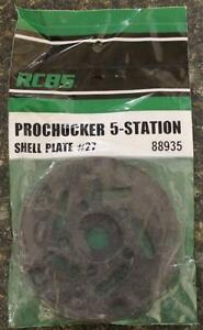 NEW RCBS Pro Chucker 5 Station Shell Holder Plate #27 88935 Auto Index Press