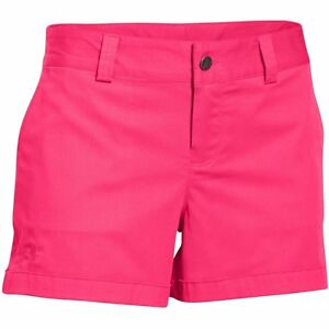 Under Armour 1271398 962 UA 3.5 Inlet Shorts Harmony Red Womens Sz 4