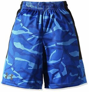Under Armour Boys Instinct Printed Shorts Ultra BlueBlack Youth X-Small