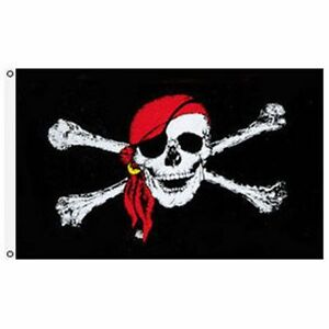 2x3 Red Hat Scarf Pirate Bones Flag 2'x3' House Banner grommets super polyester