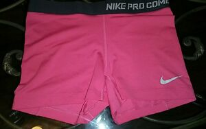 Nike Pro Combat Women's Size XS Pink Compression Shorts sexy summer work out
