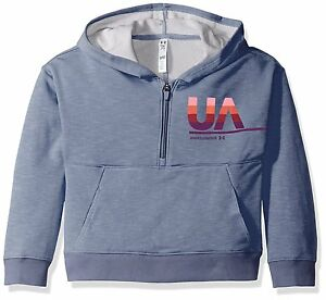 Under Armour Girls French Terry Hoody Aurora Purple Youth Large
