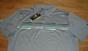 HT~BNWT~UNDER ARMOUR~MEN'S~GOLF POLO SHIRT~COLD BLACK-HEAT GEAR~LOOSE~SHIRT~3XL