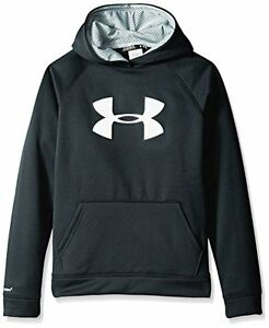 Under Armour Boys StormArmour Fleece Big Logo Hoodie Sweatshirt XS Black-Reflect