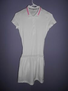 Nikegolf tour performance dry fit women's white golf dress with shorts size XS