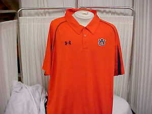 NCAA Auburn Tigers Sideline Three Button polo OrangeNavy Under Armour Size- 4XL