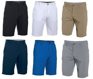 Under Armour Match Play Mens Golf Shorts WhiteGrey - Pick a Size