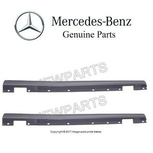 For Mercedes W204 C-Class Sedan Pair Set of 2 Rocker Panel Mouldings Primered