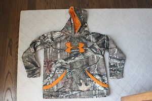 Boys Under Armour Camo Breakup Infinity Hoodie Sweatshirt Youth XL Extra Large