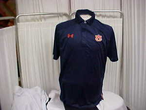 NCAA Auburn Tigers Sideline Under Armour Heat Gear Short Sleeve Polo Size Medium