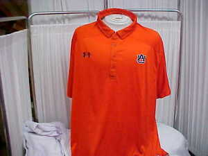 NCAA Auburn Tigers Sideline Four Button polo OrangeNavy Under Armour Size- 4XL