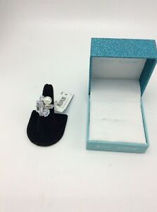 $68 Betsey Johnson Betsey Blue Cocktail Statement Ring BSS207