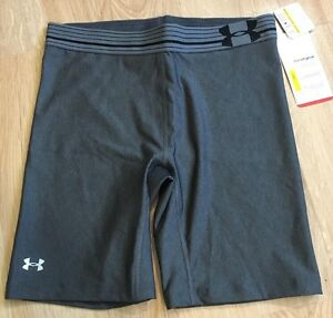 Under Armour Shorts Womens Size Small Fitted Heat Gear Gray NEW $25.00