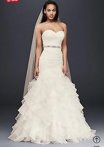 New White Mermaid Wedding Dress