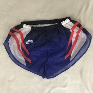 Nike Girls Running Shorts Rare MADE IN THE USA Blue Red White XL Vintage NWOT