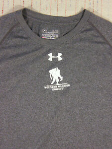 UNDER ARMOUR HeatGear Loose Dry Fit T-Shirt Mens Size XL Wounded Warrior A0406