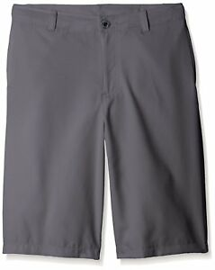 Under Armour Boys Medal Play Golf Shorts GraphiteBlack Youth Large