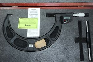 "Starrett Digital Outside Micrometer 175 200mm 6.890 7.870"" 0.0001"" 0.001mm $234.95"