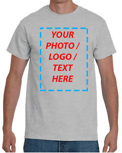 Custom T Shirt with Your Photo Text Logo t shirt printing DTG $24.99