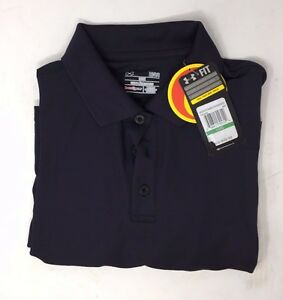 Men's Under Armour Heat Gear Loose Fit Golf Polo Shirt Size Large Dark Navy