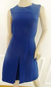 Nwt Donna Morgan Sleeveless Crepe Fit Flare Casual Work Dress Sz 12  Blue $138
