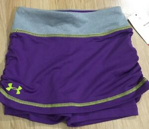 Under Armour Shorts Baby Toddler Size 4T Purple And Lime Green NEW!!
