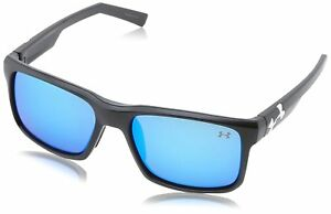 Under Armour Align Satin Black Frame with Black Rubber and Gray-Blue Lens