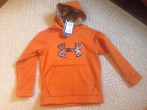 UNDER ARMOUR YOUTH STORM CAMO BIG LOGO HOODIE SIZE YMG