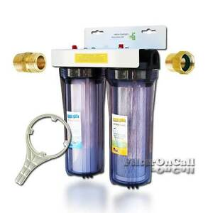 Custom Build 2 Stage RV Water Filter System Slim Portable 3 4quot; Garden Hose