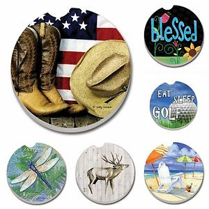 Absorbent Stone Car Coasters by CounterArt Singles Buy 2 or More amp; Save 20%