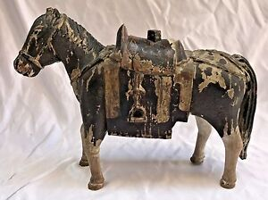 MAGNIFICENT 18 CENTURY WOODEN HORSE  (MUST SEE)