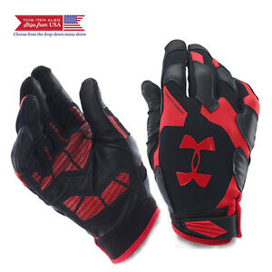 Under Armour Men's Renegade Training Gloves BlackRed Large Leather Palm