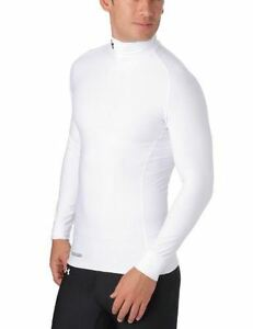 Under Armour EVO Coldgear Mock Neck Compression Top - Medium - White