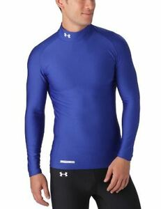 Under Armour EVO Coldgear Mock Neck Long Sleeve Compression Running Top - Large