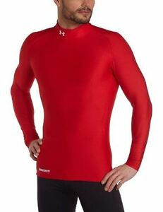 Under Armour men's ColdGear Evo Long Sleeve Compression Mock Large Red Large R