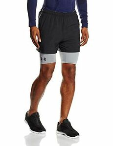 Under Armour Men's Mirage 2-in-1 Training Shorts BlackSteel X-Large
