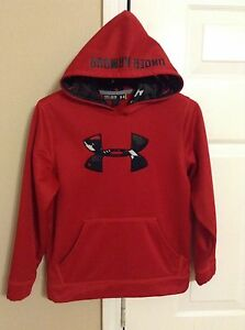 Boys Youth Under Armour Storm RedCamouflage Pullover Hoodie Size Medium