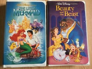The Little Mermaid VHS 1990 Banned Cover And Beauty And The Beast Black Diamond