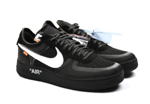 Off-White x Nike Air Force 1 Low BlackCone-White-Black AO4606-001 Size 9.5-10