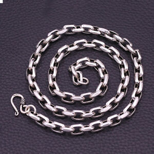 Genuine 925 Sterling Thai Silver Angle Loop Chain Men Heavy Necklace 8mm 20quot; 26quot; $135.95