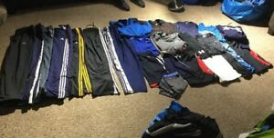 Lot 26 PC MENS SZ LARGE Athletic Wear Under Armour Adidas NIKE Tees Pants Shorts
