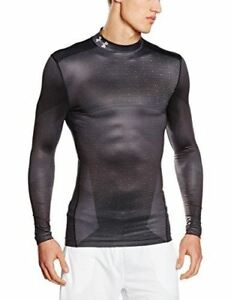 Under Armour Men's ColdGear Armour Sublimated Compression Mock BlackSteel Lar