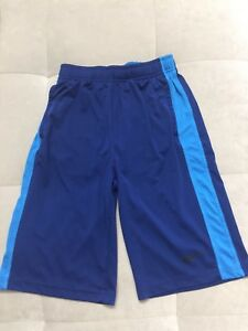 Boy Nike Dry Fit  Blue Athletic Shorts Size L Youth