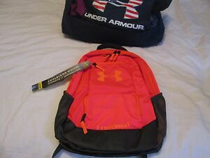 BRAND NEW UNISEX Under Armour Storm 1 Backpack Org+Black 18x12x8 FREE SHIPPING